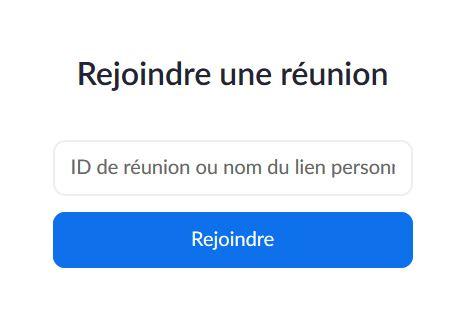 Réunion par ZOOM
